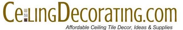 Affordable Ceiling Tile Decor, Ideas & Supplies