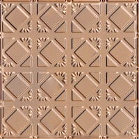 Abstract Diamondback - Copper Ceiling Tile - 24x24 - 0675