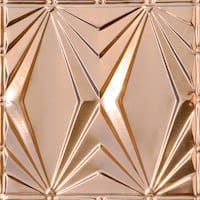 Art Deco Triangles - Copper Ceiling Tile - 24x24 - 2403