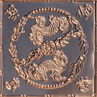 Asian Dragons - Copper Ceiling Tile - 24x24 - 2490