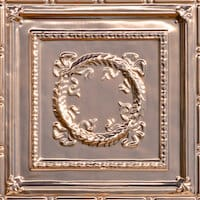 Bowed Wreath - Solid Copper Ceiling Tile - 24x24 - 2434