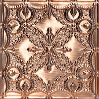 Butterfly Needlepoint - Solid Copper Ceiling Tile - 24x24 - 2410