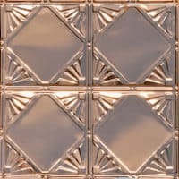 CHECKERED DECO - COPPER CEILING TILE - 1205