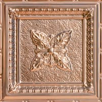 Coffered Delight - Copper Ceiling Tile - 24x24 - 2423
