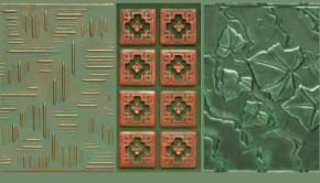 Green Ceiling Tiles