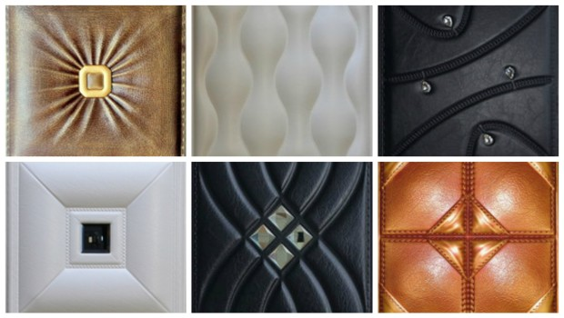 Faux Leather Wall Panels in Residential & Commercial Settings