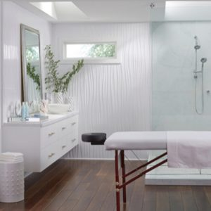 Vertical Wall Panels in Bathroom Spa