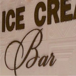 DIY Foam Ceiling Tile Wedding Ice Cream Bar