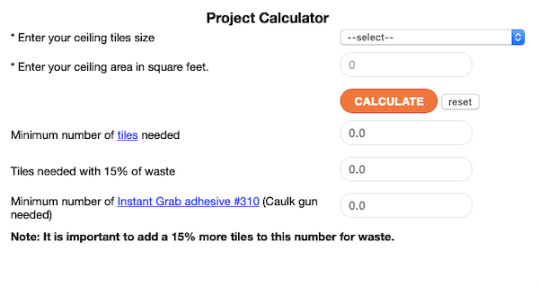 Backsplash Project Calculator