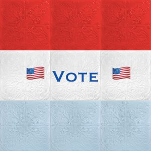 Vote - Red White and Blue Ceiling Tiles