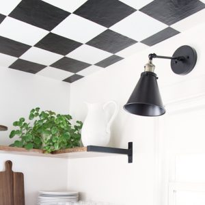 Black and White Checkered Kitchen Ceilings