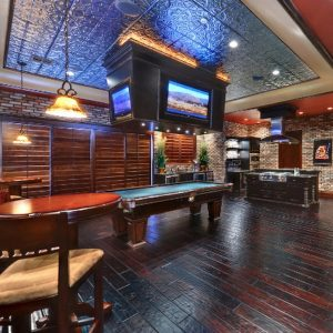 Man Cave with Decorative Ceiling Tiles