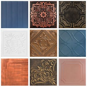 Hand Painted Styrofoam Tiles Sample Pack